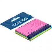 Папір для нотаток з клейким шаром (стікери) 50х75 мм Economix Е20958, Е20959, мікс, 100 арк.
