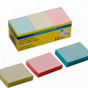 Стікери для нотаток 38х51мм, Buromax BM.2310-99, 12 блоків по100 арк. в коробці, пастельний мікс