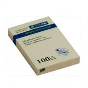 Стікери для нотаток 51х76 мм, Buromax BM.2311-01, блок-100 арк., пастельний жовтий