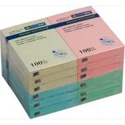 Стікери для нотаток 51х76 мм, Buromax BM.2311-99, блок-100 арк., пастельний мікс