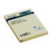 Стікери для нотаток 76х102 мм, Buromax BM.2313-01, блок-100 арк., пастельний жовтий