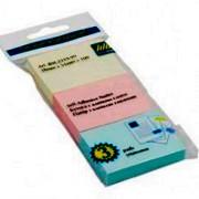 Стікери для нотаток 38х51мм, Buromax BM.2319-99, 3 блоки по100 арк. в блістері, пастельний мікс