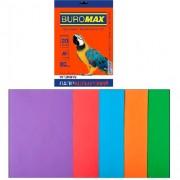 Набір паперу кольорового для друку BUROMAX, А4  мікс INTENSIVE, 5 кольорів, 20 арк