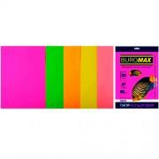 Набір кольорового паперу для друку NEON BUROMAX, А4, 80г/м2, 5 кольорів, 50 аркушів