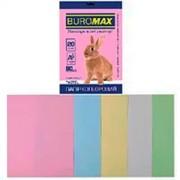 Папір кольоровий А4 для друку Pastel BUROMAX  80г/м2 , мікс пастель, 5 кольорів, 20 арк.