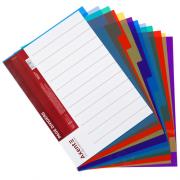 Розділювач аркушів пластиковий кольоровий Axent 1912-01-А, 12 розділів, 6 кольорів
