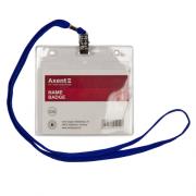 Бейдж Axent 4504-A на шнурку, горизонтальний, 113*105