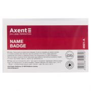 Бейдж Axent 4501-А на защіпці зі шпилькою,  90*57