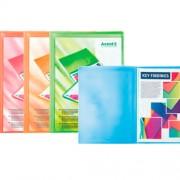 Дисплей-книга з кишенею на лицевій стороні А4 Axent 1020-А (20 файлів), асорті прозорих кольорів