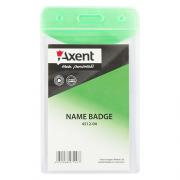 Бейдж Axent 4512-А, вертикальний, глянцевий, 65*107