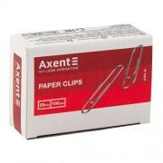 Скріпки Axent 4101-A(28мм), 4112-A(33мм), 4102-A(50мм), 4103-А(78мм), нікельовані, заокруглені, прямі