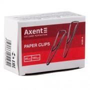 Скріпки Axent 4105-A (25мм), нікельовані, трикутні, із загином