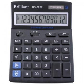 Калькулятор настільний Brilliant BS-0222: каталог, види, ціни на калькулятори