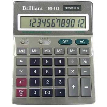 Калькулятор настільний Brilliant BS-812: каталог, види, ціни на калькулятори
