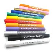 Набір акрилових маркерів для малювання STA 1000, 2 мм, 12 кольорів