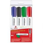 Набір маркерів для білих дощок Optima O16204, 2-3 мм, 4 кольори в блістері