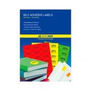 Етикетки з клейким шаром кольорові Buromax BM.2811, А4/1, 210х297, 25 арк., асорті
