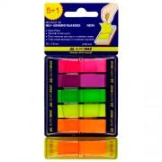 Закладки з клейкою стрічкою пластикові POP-UP Neon Buromax BM.2303-98, 45x12 мм, 240 арк.(5+1 колір по 40 шт.), асорті