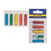 Індекс-мітки пластикові Buromax BM.2304-98, 45х12мм, 100 шт. (5 кольорів х 20 шт.)