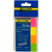 Закладки з клейким шаром паперові Neon Buromax BM.2330-98, 50х20 мм, 4х30 шт., асорті