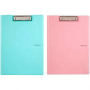 Папка-планшет А4 з металевим кліпом Axent Pastelini 2514-A, вініл, асорті пастельних кольорів