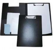 Папка-планшет А4 пластикова з металевим притиском Economix E30153-01, чорна
