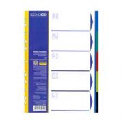 Розділювач аркушів пластиковий Economix E30801, А4, кольоровий, 5 розділів