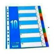 Розділювач аркушів пластиковий Economix E30803, А4, кольоровий, 10 розділів