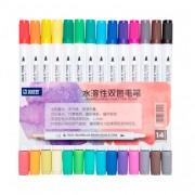 Набір двосторонніх акварельних маркерів STA 3132, 1-3 мм, 14 кольорів / 28 відтінків