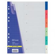 Розділювач аркушів (від 1 до 6) пластиковий кольоровий (з цифрами) Buromax BM.3210, розділів: 6