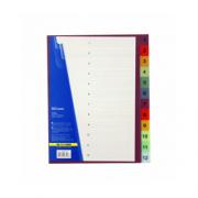 Розділювач аркушів (від 1 до 12) пластиковий кольоровий (з цифрами) Buromax BM.3212 (А4), BM.3213 (А5), розділів: 12