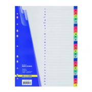 Розділювач аркушів (від А до Я) кольоровий алфавітний (з літерами) Buromax BM.3214, А4, розділів: 28