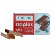 Скоби для степлерів Оptima O40353 (№10), O40354 (№24/6), мідні