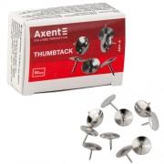 Кнопки нікельовані Axent 4201-A(50шт.), 4211-А(100шт.)