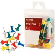 Кнопки-цвяшки кольорові Axent 4203-A(30шт. у карт.коробці), 4213-А(50шт. у пласт. контейнері)