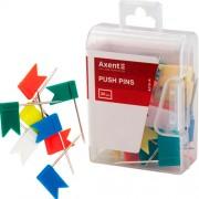 """Кнопки-цвяшки кольорові """"Прапорці"""" Axent 4215-A, 30шт. у пласт. контейнері"""