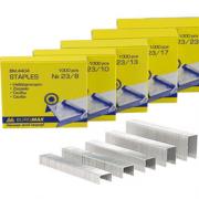 Скоби для степлера Buromax Люкс ВМ.4404(№23/8) - ВМ.4408(№23/23), ВМ.4411(№10), ВМ.4412(№24/6), надміцні