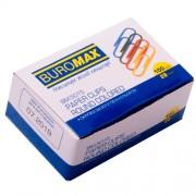 Скріпки 28мм Buromax BM.5015, кольорові, заокруглені