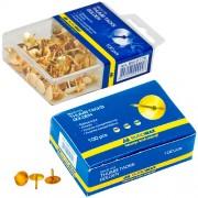Кнопки золотисті Buromax BM.5103 (в карт. коробці), BM.5175 (в пласт.контейнері), по 100шт.
