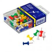 Кнопки-цвяшки кольорові Buromax BM.5150, 50 шт. в пласт. контейнері