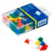 """Кнопки-цвяшки """"Піраміда"""" Buromax BM.5151, 50 шт. в пласт. контейнері"""