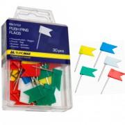 Кнопки-прапорці кольорові Buromax BM.5152, 30 шт. в пласт. контейнері