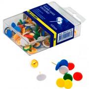 Кнопки кольорові Buromax BM.5176, 100 шт. в пласт. контейнері