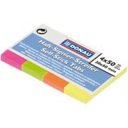Закладки з клейким шаром паперові Neon DONAU 7576001PL, 20х50 мм, 200 арк.(4 кол.х 50шт.), неон асорті