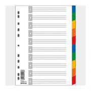 Розділювач аркушів пластиковий кольоровий Donau 7704095, 7710095, А4, розділів: 5(10)