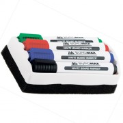 Набір маркерів для дощок з губкою Jobmax  Buromax BM.8800-84