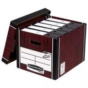 """Короб архівний серії """"R-Kive Woodgrain"""" Bankers Box Fellowes f.61001, 325х285х385 мм, текстура дерева"""