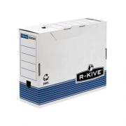 """Бокс архівний серії """"R-Kive Prima"""" Fellowes f.26401 (80мм), f.26501 (100мм), синій"""