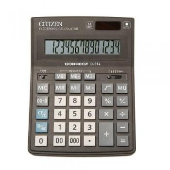 Калькулятор настільний Citizen Correct D-314: каталог, види, ціни на калькулятори