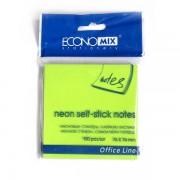 Стікери 76х76 неонові, Economix Е20944
